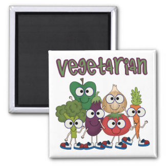 Vegetarian Square Magnet
