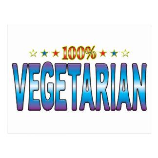Vegetarian Star Tag v2 Postcard