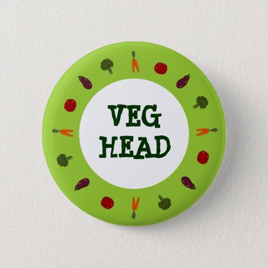 Vegetarian/Vegan Colourful Veggies Button