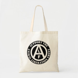 Vegetarian Vegan Support Animal Liberation Front Tote Bag