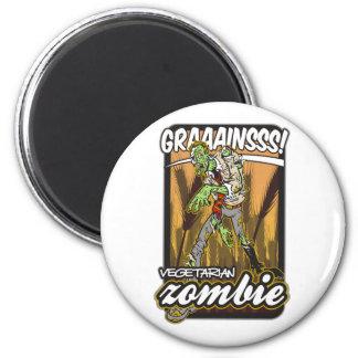 Vegetarian Zombie 6 Cm Round Magnet