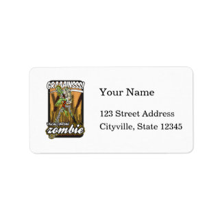 Vegetarian Zombie Address Label