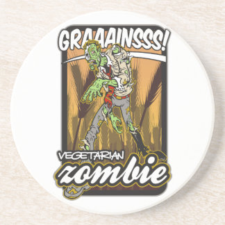 Vegetarian Zombie Coaster