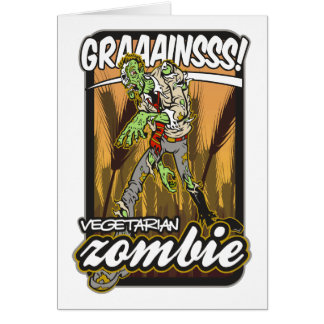 Vegetarian Zombie Greeting Card