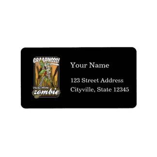 Vegetarian Zombie Address Label