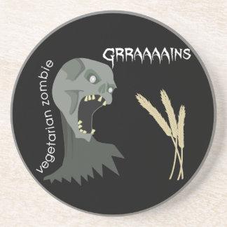Vegetarian Zombie wants Graaaains! Coasters