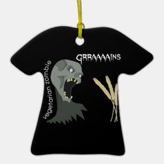 Vegetarian Zombie wants Graaaains Christmas Tree Ornament