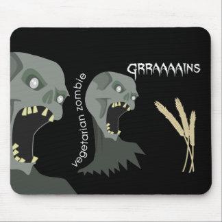Vegetarian Zombie wants Graaaains! Mouse Mat
