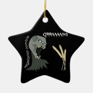 Vegetarian Zombie wants Graaaains Ornament