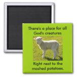 Vegetarians Nightmare Square Magnet