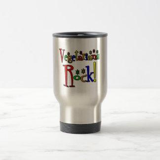 Vegetarians Rock (retro style) Coffee Mug