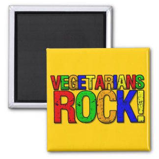 Vegetarians ROCK Square Magnet
