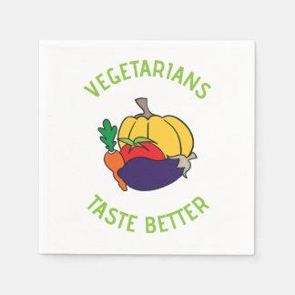 Vegetarians taste better disposable napkin