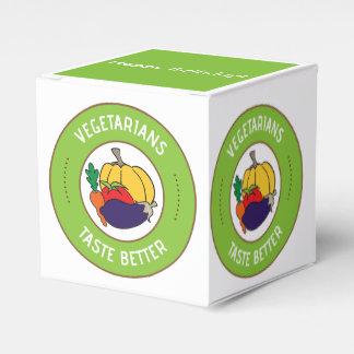 Vegetarians taste better party favour box