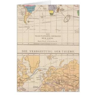 Vegetationsgebiete, Thiere Atlas Map Card