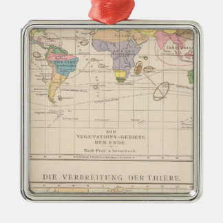 Vegetationsgebiete, Thiere Atlas Map Christmas Ornament