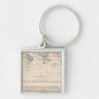 Vegetationsgebiete, Thiere Atlas Map Key Ring