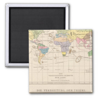 Vegetationsgebiete, Thiere Atlas Map Magnet