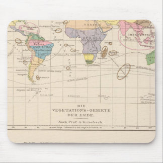 Vegetationsgebiete, Thiere Atlas Map Mouse Mat