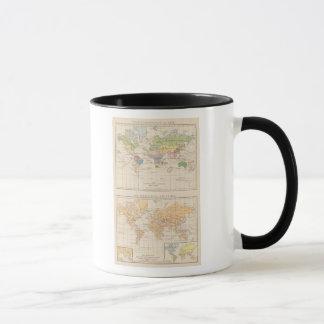 Vegetationsgebiete, Thiere Atlas Map Mug