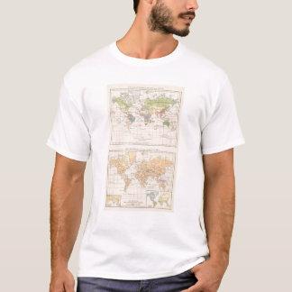 Vegetationsgebiete, Thiere Atlas Map T-Shirt