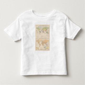 Vegetationsgebiete, Thiere Atlas Map Toddler T-Shirt