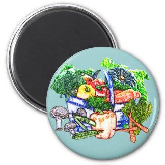 Veggie Basket Fridge Magnet