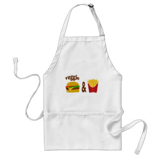 Veggie Burger and Fries Standard Apron