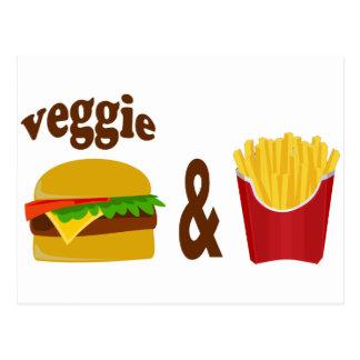 Veggie Burger and Fries Postcard