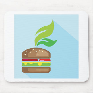 Veggie Burger Vector Art Mouse Pad