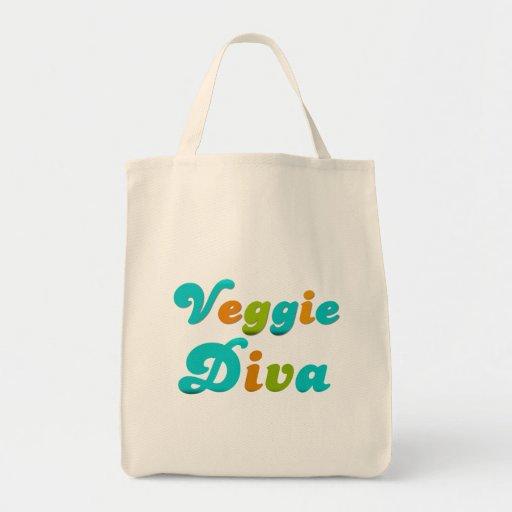 Veggie Diva Canvas Bag