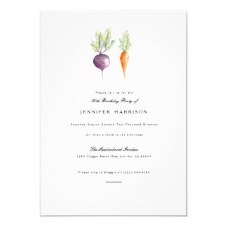 Veggie Duo | Watercolor Birthday Party Invite
