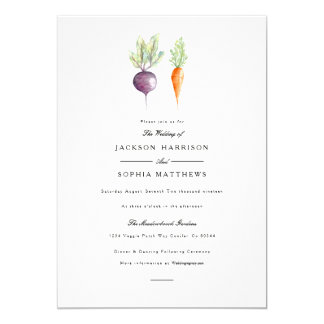Veggie Duo | Watercolor Wedding Invite