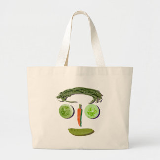 Veggie Face Large Tote Bag