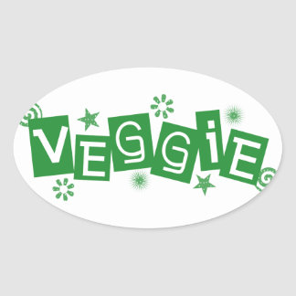 Veggie, For Vegetarians and Vegans Stickers