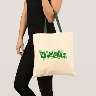 Veggie, For Vegetarians and Vegans Tote Bag