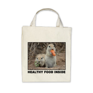 Veggie Loving Squirrels Canvas Tote Canvas Bags