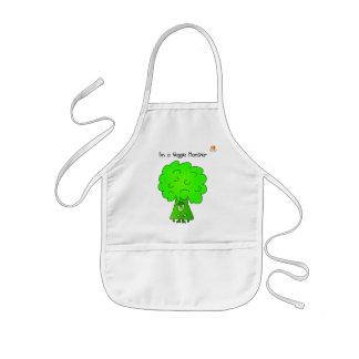 Veggie Monster Apron for Kids - Broccoli