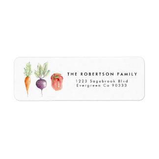 Veggie Patch Watercolor Address Label