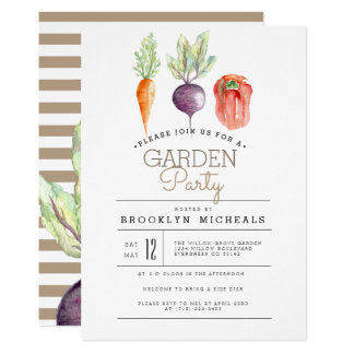 Veggie Patch | Watercolor Garden Party Card