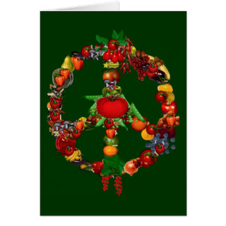 Veggie Peace Sign Card