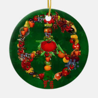 Veggie Peace Sign Christmas Ornament