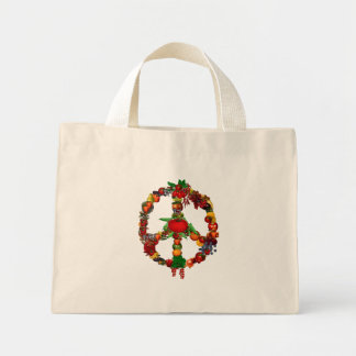 Veggie Peace Sign Mini Tote Bag