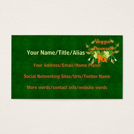 Veggie Powered Business Card