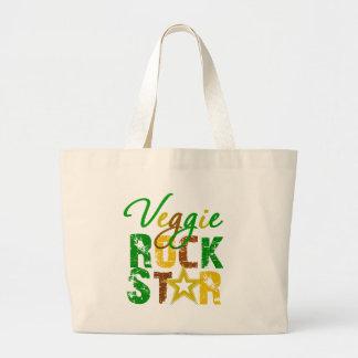 Veggie Rock Star Canvas Bag