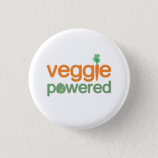 Veggie Vegetable Powered Vegetarian 3 Cm Round Badge