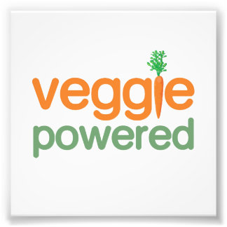 Veggie Vegetable Powered Vegetarian Photo Print