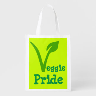 veggie,vegetarian,vegan ,symbol,VEGGIE PRIDE Grocery Bag