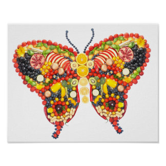 veggieart butterfly poster
