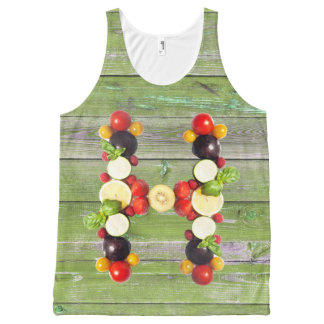 veggieart H-ealthy green wood All-Over Print Tank Top